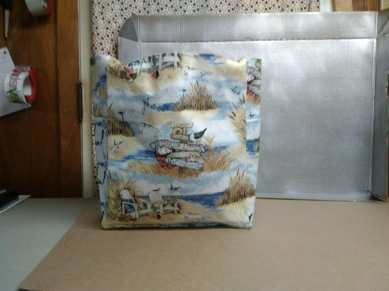 beach sand pelican chairs large purse project bag handmade