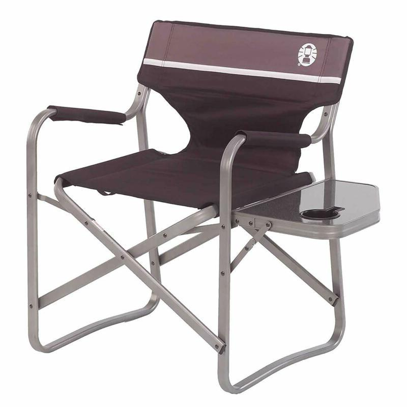 camp chair with side table folding beach