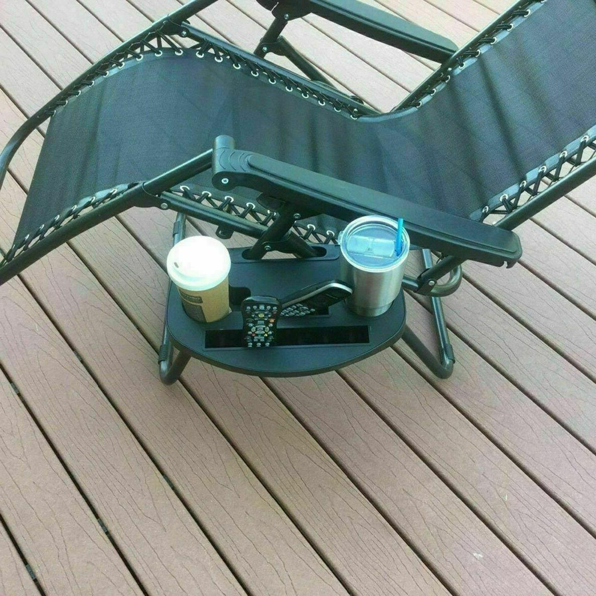 CHAIR LAWN BLACK HOLDER For Zero Patio Lounge Pool Beach Chair Tray