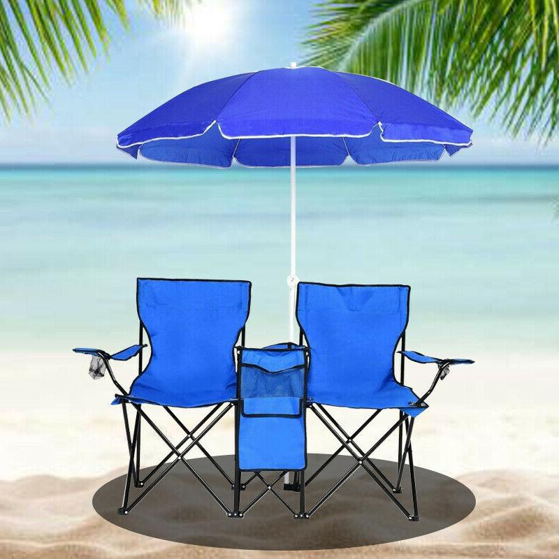 New Foldable Camping Pool Fishing Stool Double Beach Chairs
