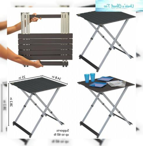 compact folding camping table