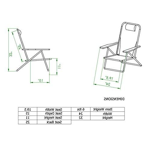 Deluxe Backpack Chair with Holder Pouch