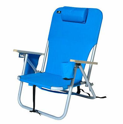 deluxe 4 position aluminum backpack chair