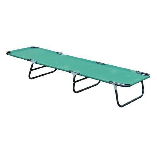Outsunny Folding Adjustable Sun Lounger Cot, Green