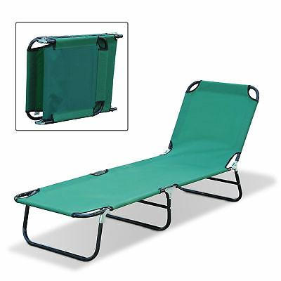 deluxe folding adjustable sun lounger