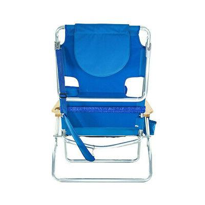Ostrich Deluxe Outdoor Lounge Beach Chair, Blue