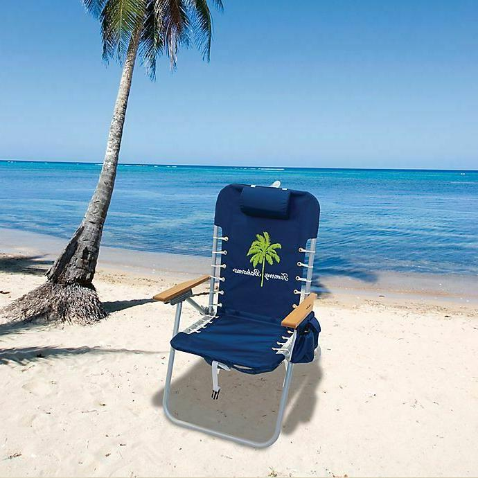 Tommy Backpack Beach Chair Cup Holder