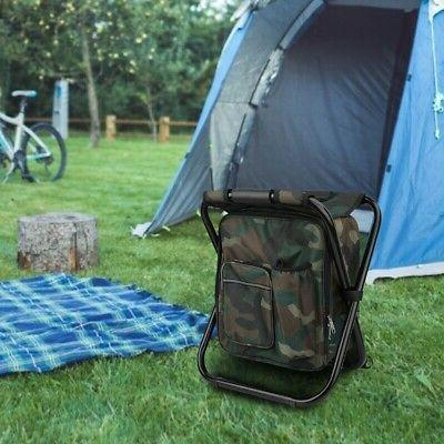 Foldable Insulated Cooler Bag Chair Fishing Hiking
