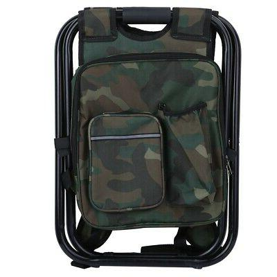 Foldable Stool Bag Backpack Chair Beach Fishing Camping