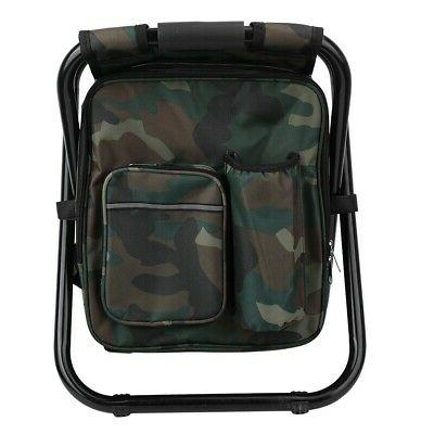 Foldable Stool Cooler Bag Backpack Chair Fishing