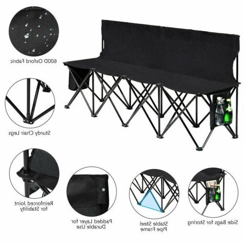 Folding 4 Sports Sideline Outdoor Side Bag Beach Camping Black