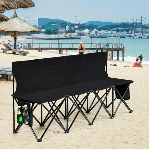 folding 4 seats sports sideline bench outdoor