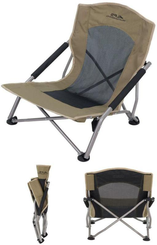 folding camping chair beach sitting low seat