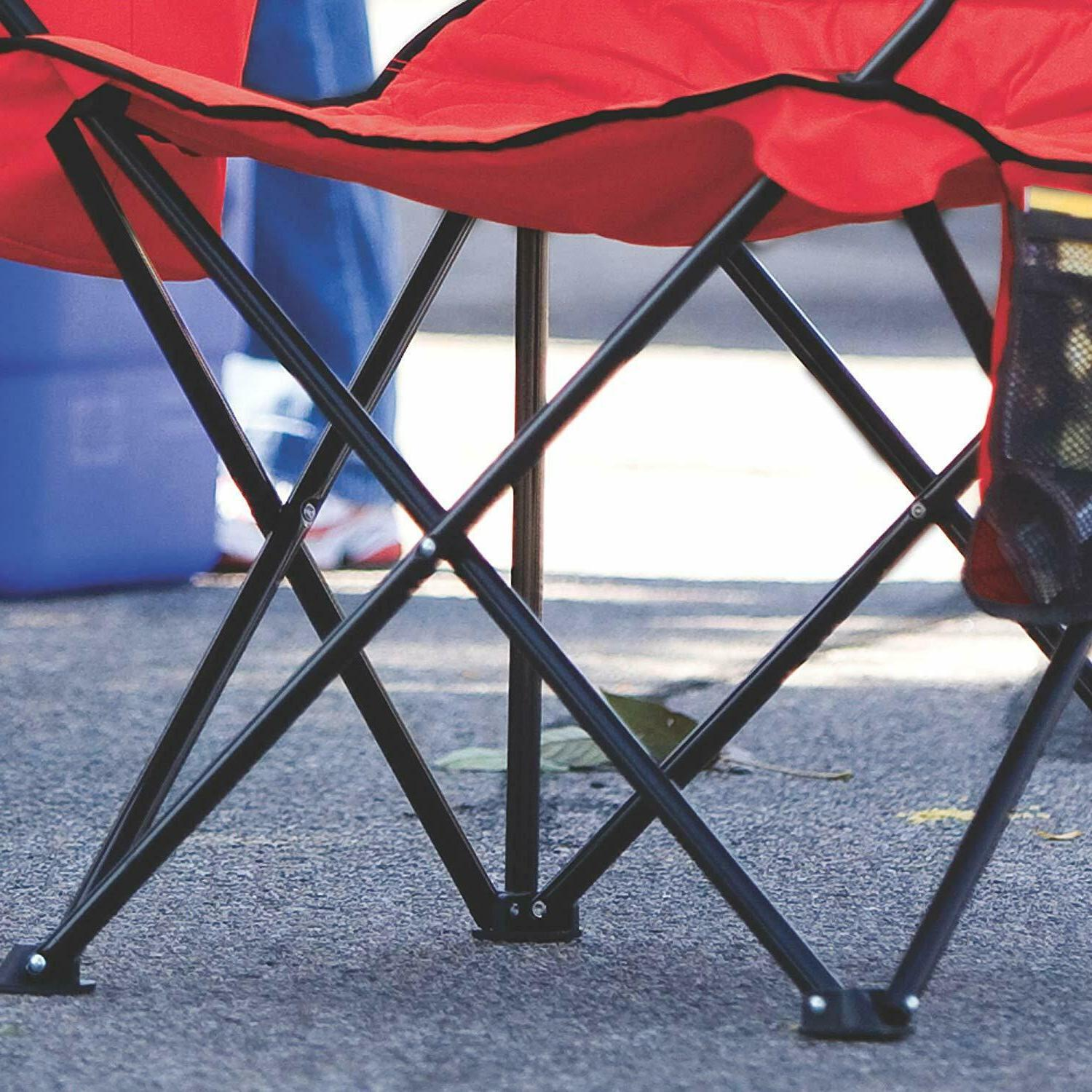 Coleman Folding Picnic Outdoor Seat Gate Red