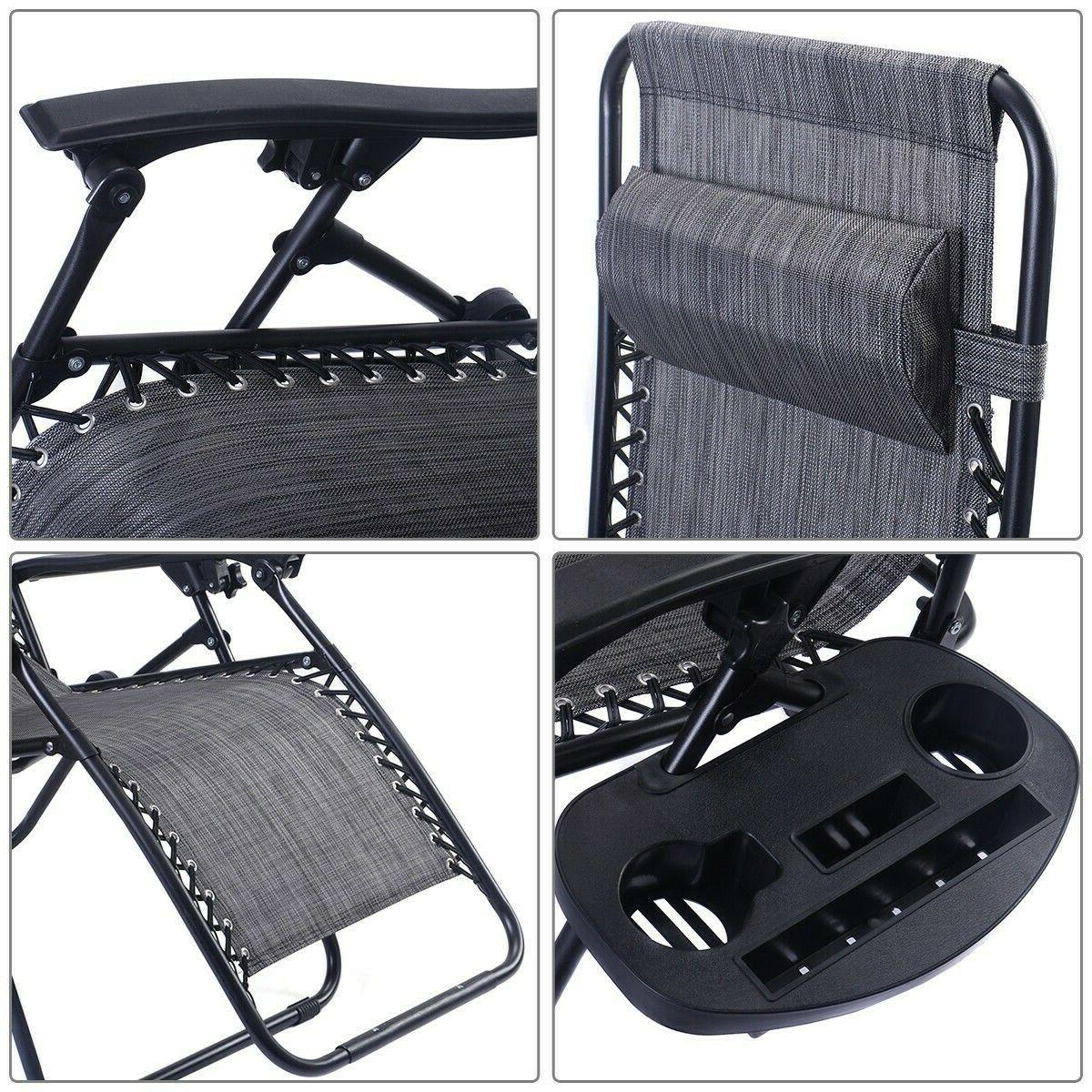 Folding Chaise Chairs Lounge Outdoor Beach Lawn