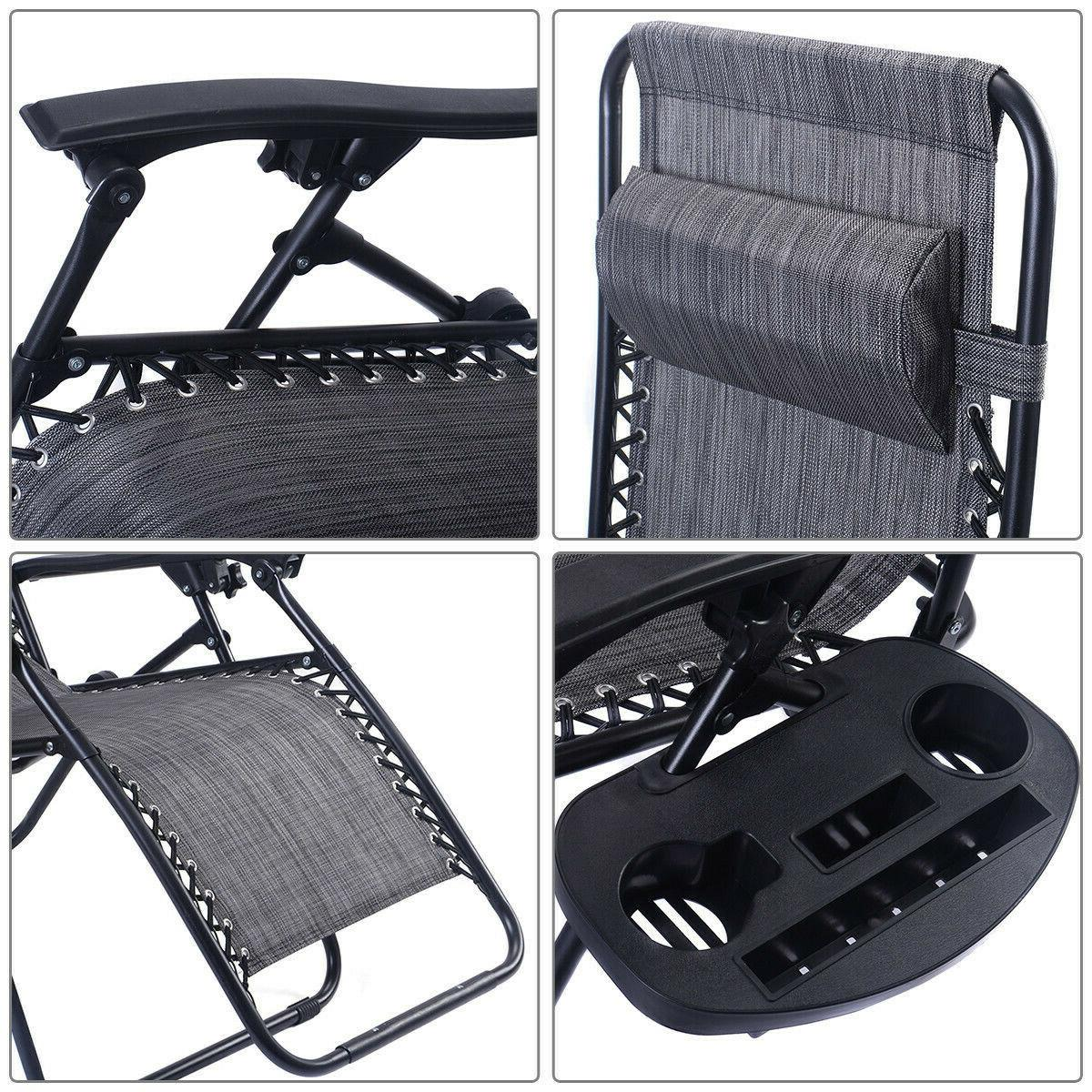 Folding Chaise Chairs Lounge Patio Outdoor Yard