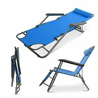 Folding Chaise Chairs Lounge Outdoor Beach