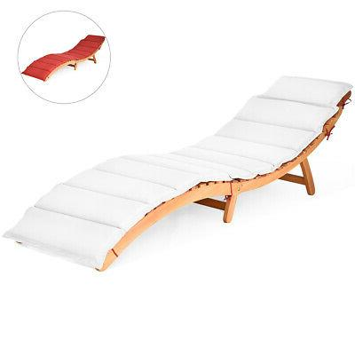 folding wooden outdoor lounge chair chaise red