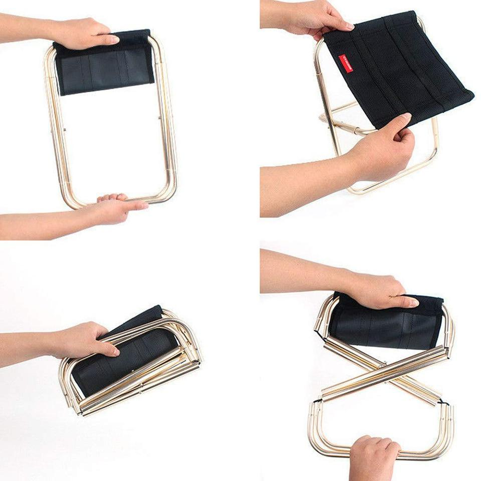 <font><b>Folding</b></font> Outdoor <font><b>Chair</b></font> Portable Travel Backpack <font><b>Camping</b></font> <font><b>Stools</b></font> for