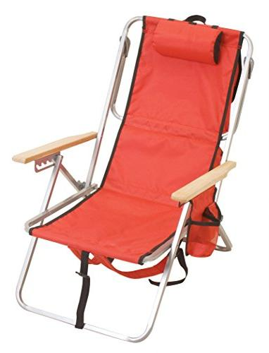 Rio Brands Position Steel Backpack Chair with
