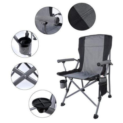 Heavy Duty Folding Camping Chairs Cup Bag