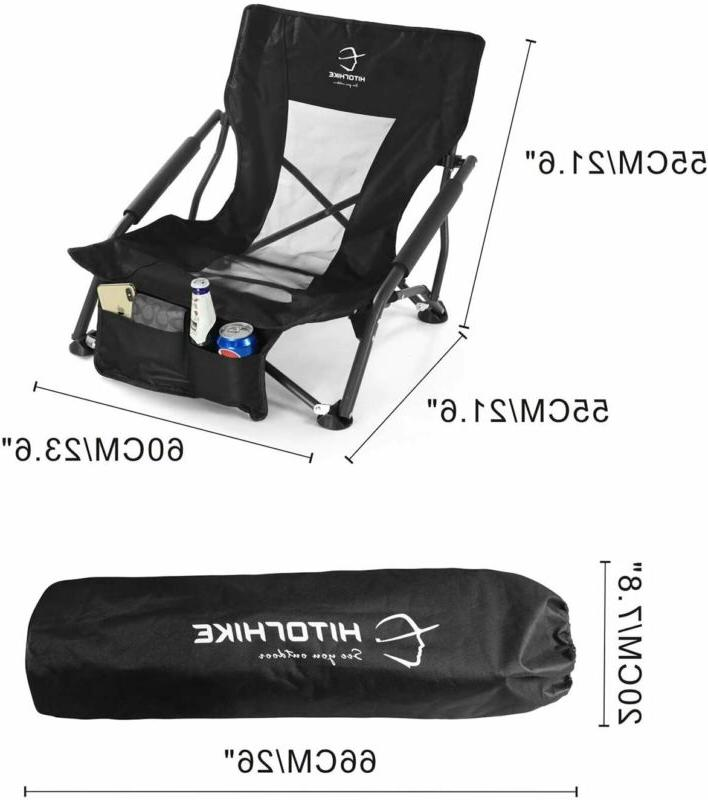 HITORHIKE Sling Beach Camping Folding Chair with