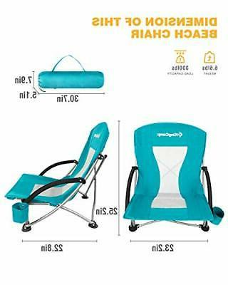 KingCamp Low Sling Beach Chair for Lawn, High