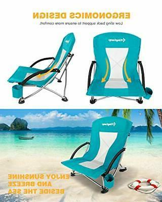 KingCamp Beach Chair for Lawn, Low and
