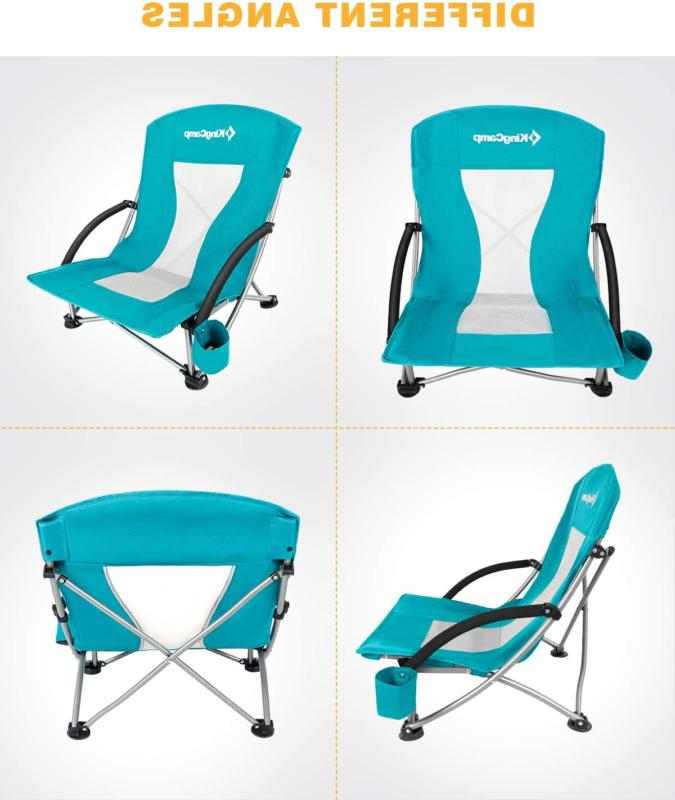 low sling beach chair for camping concert