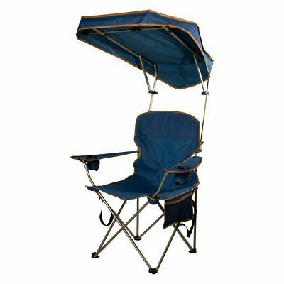 max camp chair with canopy navy