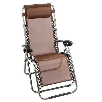 New 3PC Beach Recliner Chair Fold Adjustable Patio Lounge US