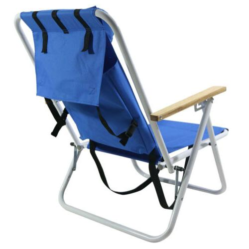 New Backpack Beach Chair Folding Portable Solid