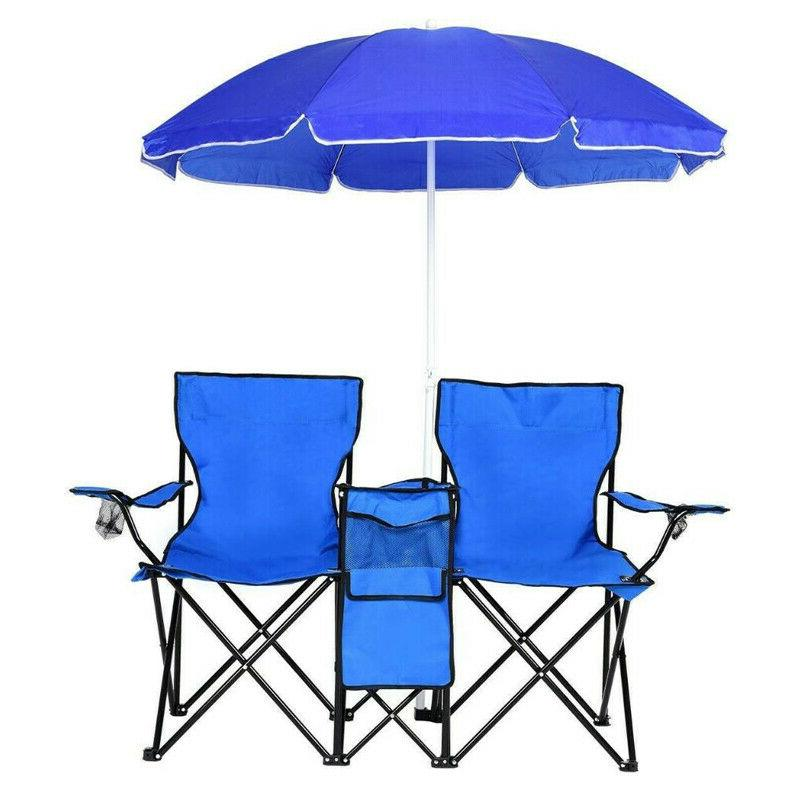 New Camping Pool Fishing Stool Chairs with Umbrella&bag