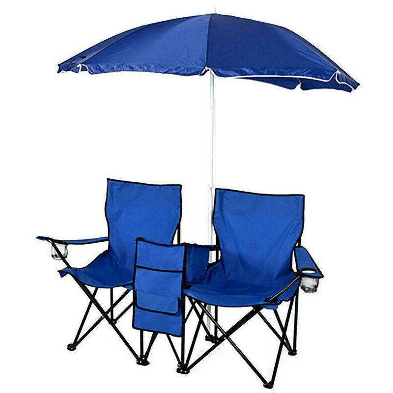 New Foldable Camping Fishing Chairs with Umbrella&bag