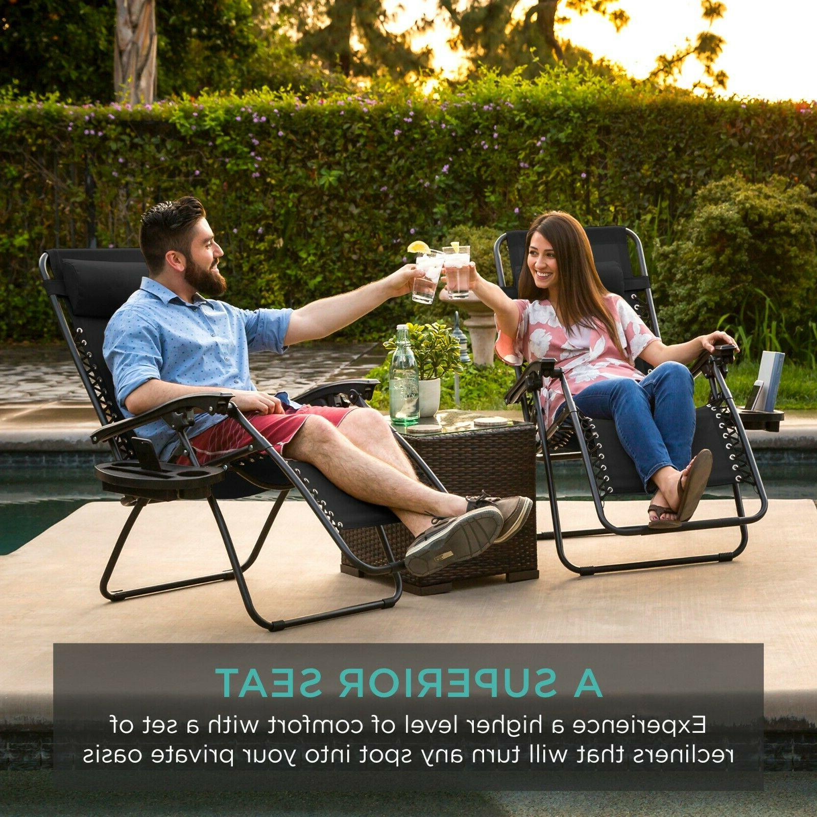 Case Zero Chairs Outdoor Patio Reclinable