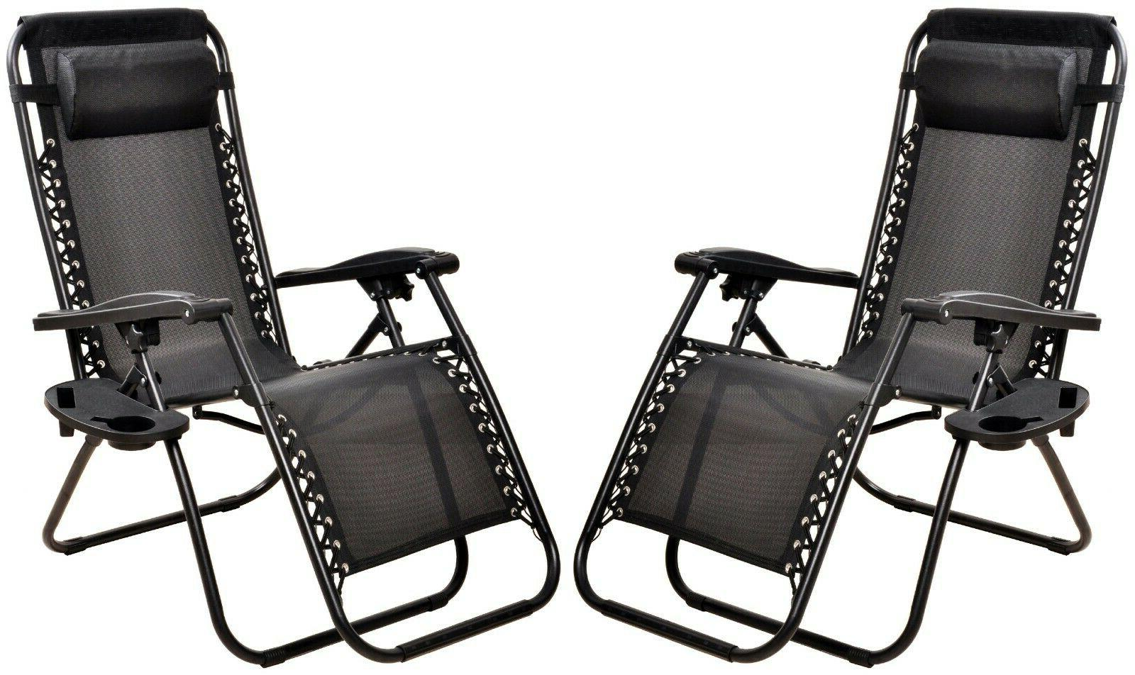 Case Of Zero Gravity Chairs Folding Outdoor Patio Reclinable