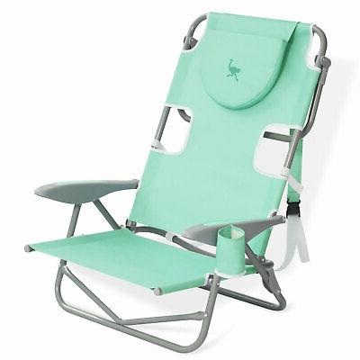 on your back folding reclining outdoor beach