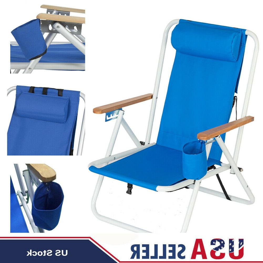 outdoor folding camping adjustable beach chair sun