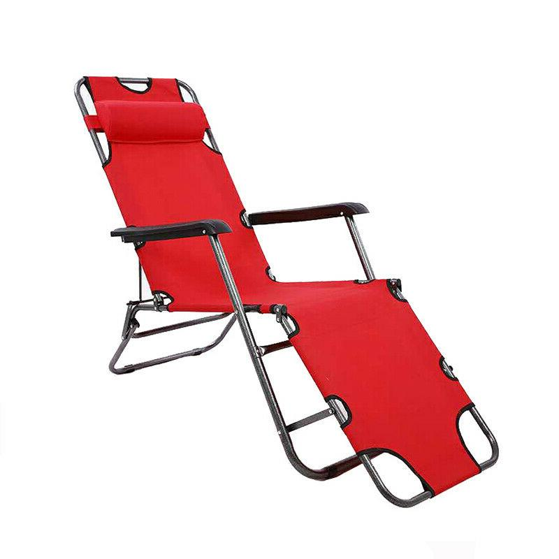 New Outdoor Folding Beach Sun Patio Chaise Lounge Chair Pool