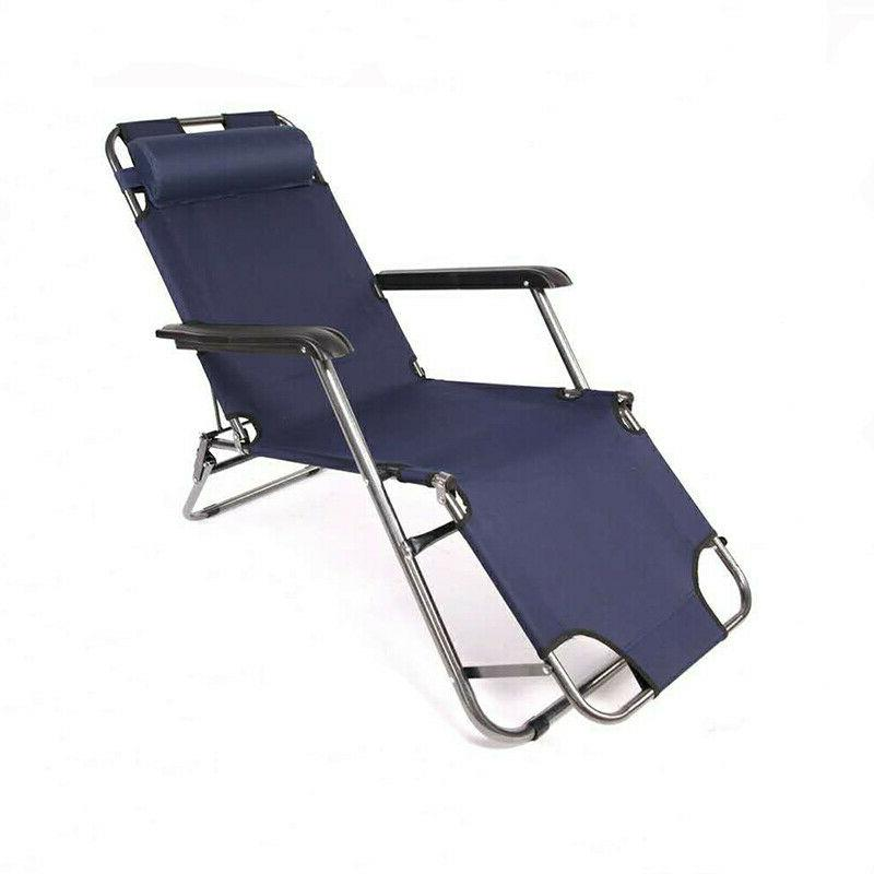 Outdoor Folding Reclining Beach Sun Patio Chaise Chair Pool