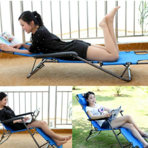 Outdoor Folding Reclining Sun Patio Chaise Chair Pool Lounger