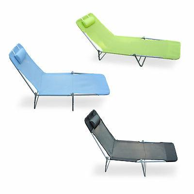 outdoor folding reclining beach sun patio chaise