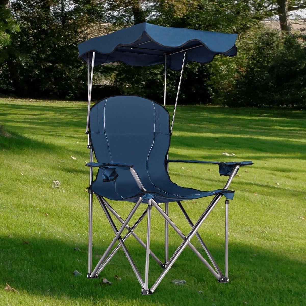 Outdoor Beach Chair with Cup Holders