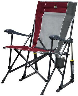 outdoor roadtrip rocker chair sturdy camp sport