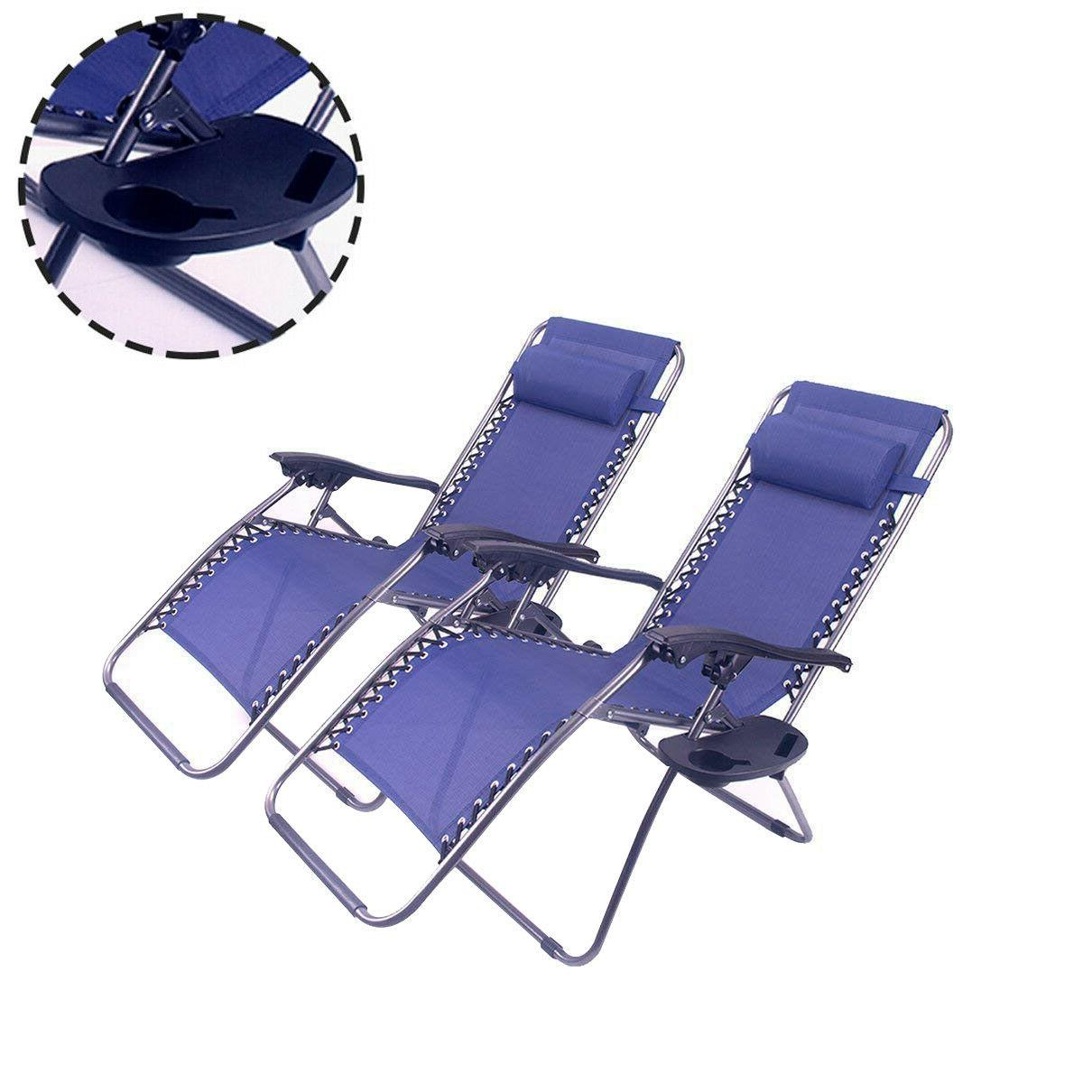 Outdoor Zero Chair Folding 2PC