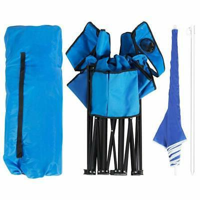 Picnic Double Folding w/Umbrella Cooler Up Beach