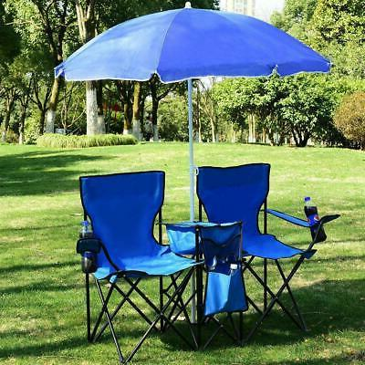 Picnic Double w/Umbrella Cooler Up Chair