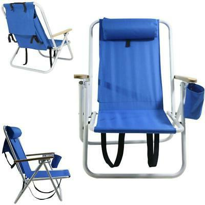 portable beach chair backpack folding seat camping