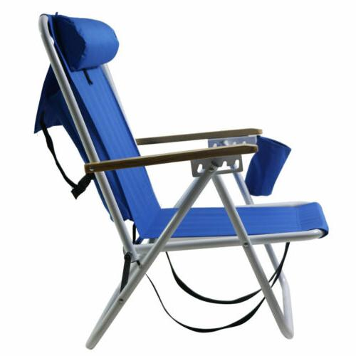 Outdoor Portable Chair wIth Headrest&Cup Holder