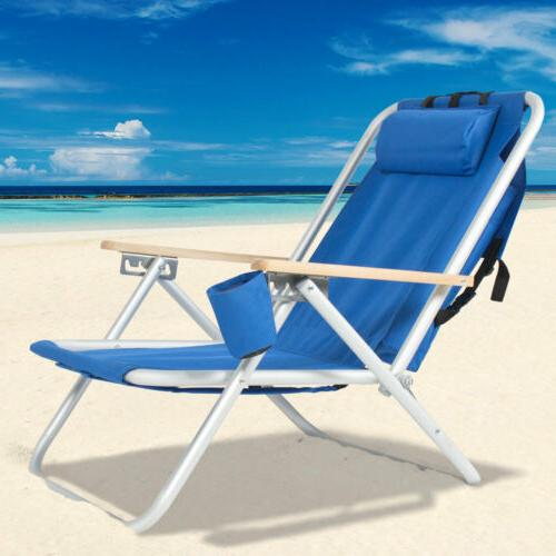 Outdoor Chair wIth Headrest&Cup Holder